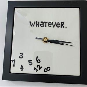 "Enesco ""Whatever"" scrambled numbers battery clock"